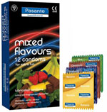Pasante Mixed Flavours Condoms